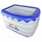 OPEN BABY OPBY-L04 Inflatable Baby Playing Swimming Pool - Blue + White
