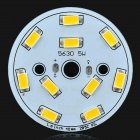 40mm 5W 525lm 3036K 10-SMD 5630 LED Warm White Light Bulb Aluminum Plate - Orange + White