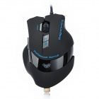 AULA Emperor Hate USB 2.0 Wired 2000dpi Optical Programmable Gaming Mouse - Black