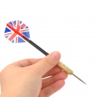 Union Jack Pattern Knight Professional en acier inoxydable Sharp Steel Darts - Multicolore (3 PCS)