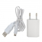 AC Power Charger Adapter w/ USB Cable for Nintendo 3DS LL / 3DS XL / DSi LL / DSi XL / NDSi - White