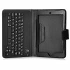K76AS MINI Bluetooth V3.0 59-Key Keyboard w/ PU Leather Case for Ipad MINI - Black