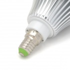 E145882 E14 7W 500~600lm 3500K 14-SMD 5630 LED Warm White Lamp - White + Silver