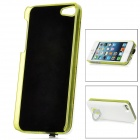 External 2600mAh Power Battery Charger w/ Caller Signal Flashing Back Case for iPhone 5 - White