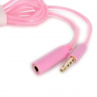 3.5mm Male to Female Audio Extension Cable - Pink (99CM)