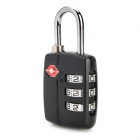 JUST LOCK TSA20939 Zinc Alloy Travel Coded Lock - Black