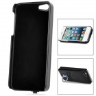 External 2600mAh Power Battery Charger w/ Caller Signal Flashing LED Back Case for iPhone 5 - Black
