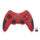 FV-W520D 2.4G Wireless DualShock Game Joypad Controller for PS3 / PC - Red + Black