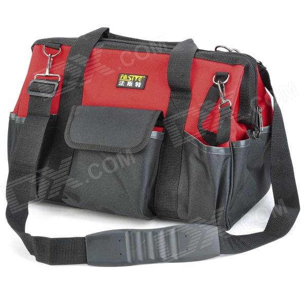 FASITE PT-N087 Multifunction Electrical Repairing Tool Storage Hand / Shoulder Bag - Black + Red