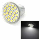 E27 3W 336lm 6500K 24-SMD 5050 LED White Light Lamp - Silver