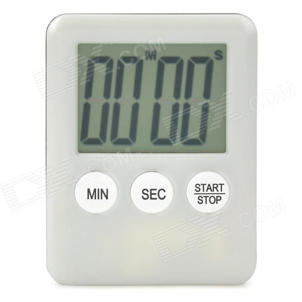 "1.7"" LCD Kitchen Timer / Countdown Meter / Reminder - White + Black (1 x L1131)"