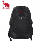 Oiwas 4023 Large Capacity Water Resistant Nylon Leisure Computer Traveling Zipper Backpack - Black