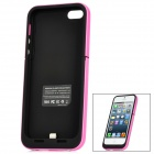 Externe 2200mAh Emergency Power Battery Charger Frosted zurück Fall für iPhone 5 - Black + Pink