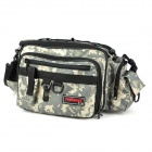 Trulinoya Multifunction Fishing Tackle Storage Zippered Waist Bag w/ Straps + Small Bag - Camouflage