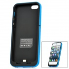 Externe 2200mAh Emergency Power Battery Charger Frosted zurück Fall für iPhone 5 - Black + Blue