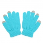NH-ST001 Capacitive Touch Screen Touching Hand Warmer Gloves - Blue (Pair)