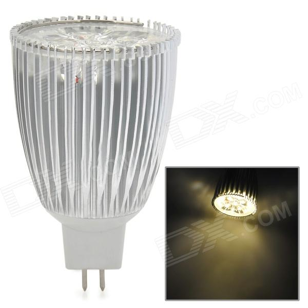 MR16 GX5.3 5W 400lm 3500K 5-LED Warm White Spotlight - White + Silver gx h6b r sensor mr li