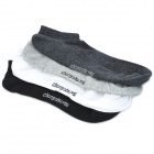 Men's Outdoor Sports Cotton Socks - Black / White / Light Grey / Deep Grey (4-Pair)
