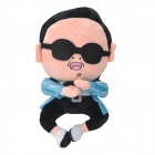 Cartoon GangNam Style PSY Plush Doll Toy - Black + Blue + White + Pink