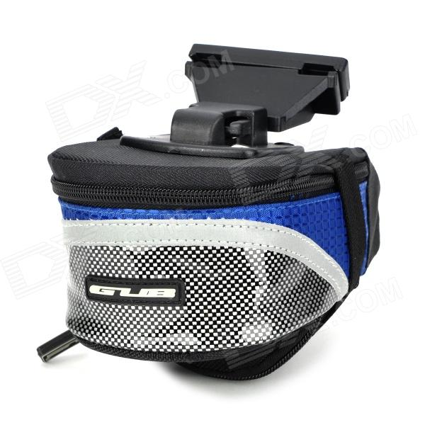 GUB 3341 Waterproof Dual Zippered Bicycle Tail Bag - Black + Blue gub 3342 multifunction waterproof bicycle bike tail bag grey black