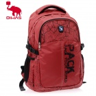 OIWAS 4040 Fashionable Map Pattern Leisure Business Travel Shoulder Backpack - Red (31L)