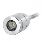 3W 285lm 6500K White LED Spotlight Reading Lamp w/ Clip - Silver (2-Round-Pin Plug / 85~265V)