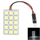 PointPurple 5050-15 T10 / BA9S / Festoon Spring 205lm 15-SMD 5050 LED White Light Car Reading Lamp