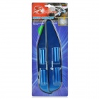 Aluminum Car Rear View Mirror Rain Shelter w/ 3m Double-Sided Sticker - Blue (2 PCS)