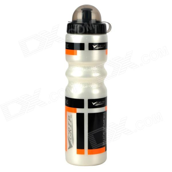 V-Grip H625 Bicycle Bike Plastic Sports Dual Layer Water Bottle - White + Blue + Orange (700ml)