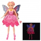 H28C Fairy Butterfly Doll Toy w/ RGB Light 6-LED - Deep Pink (3 x L1154)