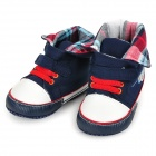 Babies Cotton Freizeit Prewalker Schuhe - Deep Blue + White (Pair / 6 ~ 9 Monate)