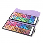 100C Rose Pattern Cosmetic Makeup 100-Color Eyeshadow Palette - Purple
