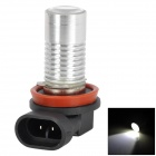 H8 3W 200lm 1-LED White Light Car Foglight Lamp - Black + White + Red (DC 12V)