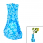 Romantic Creative Irregular Circle Pattern PVC Folding Vase - Blue (Size XL)