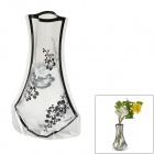 Romantic Creative Plum Flower Pattern PVC Folding Vase - Black + Transparent (Size XL)