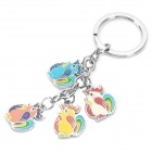 Stainless Steel Chinese Zodiac Keychain (Rooster)