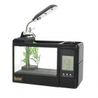 Jeneca HF-03 Multifunction Desk Electronic Fish Tank Air Humidifier - Black + Transparent