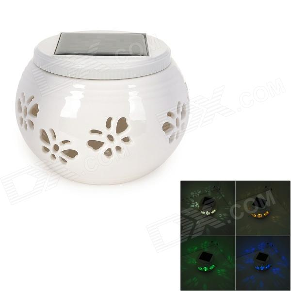 Butterfly Pattern 1W 6lm 5500~6000K 2-LED White + RGB Light Decoration Lamp - Milky White