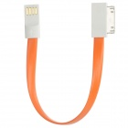 VOJO iMagnet USB Male to 30 Pin Male Flat Data Cable for iPhone 4S + More - Orange (20cm)