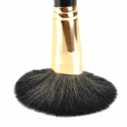 Profesional 20-in-1 Animal + Fabric Cosmetic Hair Makeup Brush w / PU Bag - Negro
