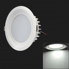 12W 800 ~ 1000lm 6500K 12-LED White Light Deckenleuchte w / Driver - White