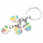 Stainless Steel Colorful Zodiac Keychain (Gemini)