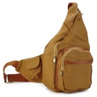 907BR Fashion Protective Canvas Shoulder Bag for DSLR Camera - Brown