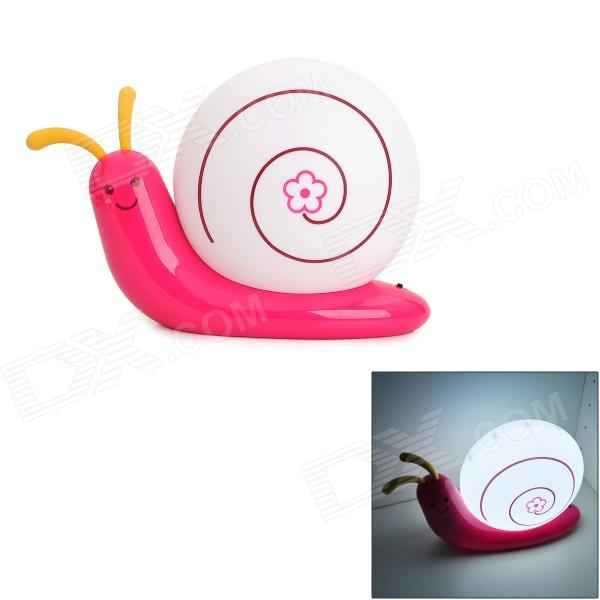 Snail Shape 3W 270lm Energy Saving USB Rechargeable White LED Light Desktop Lamp - Deep Pink + White