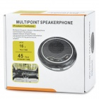 JD-DR168 Multi-Point Bluetooth v2.0 Handsfree Car Speakerphone for Cell Phone - Black + Silver