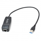 USB 3.0 to 10 / 100 1000Mbps RJ45 LAN Ethernet Network Adapter - Black
