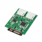 SATA to 2 SD Card Converter Adapter - Green