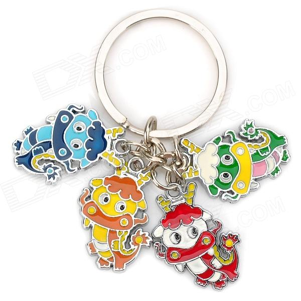 Stainless Steel Chinese Zodiac Keychain (Dragon)