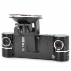 "2.7"" TFT 120 Degrees Wide Angle 720P HD Dual-Camera Car Camcorder w/ 8-IR LED / AV-Out / Mini HDMI"