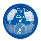 Mingle TH108 Plastic Analog Indoor Household Thermometer / Hygrometer w/ Stand - Blue